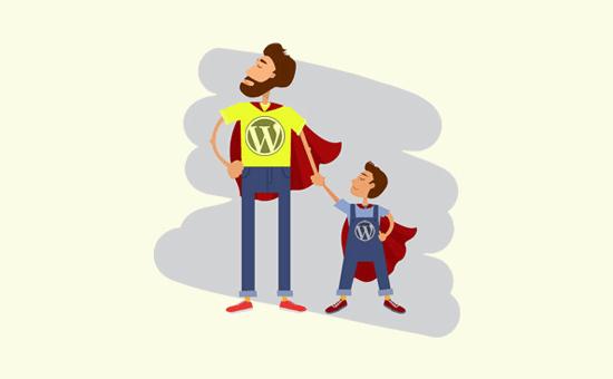 یک تم کودک برای ذخیره کد سفارشی ایجاد کنید