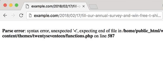 درک خطاهای PHP در وردپرس