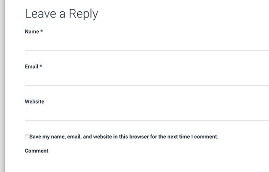 روش 2. تعویض فرم نظرات قالب شما با فرم نظرات قالب پیش فرض وردپرس