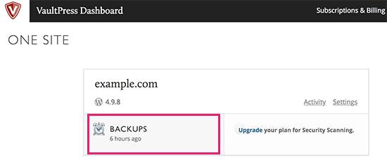 بازگرداندن پشتیبان وردپرس توسط JetPack و VaultPress